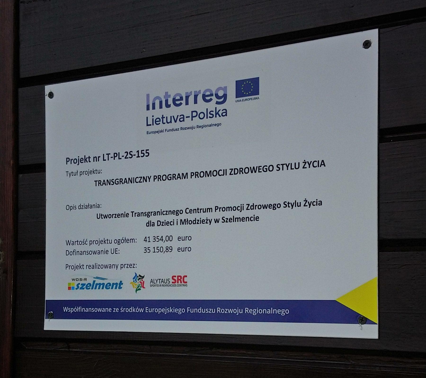 Otwarcie Transgranicznego Centrum Promocji Zdrowego Stylu Życia w Szelmencie