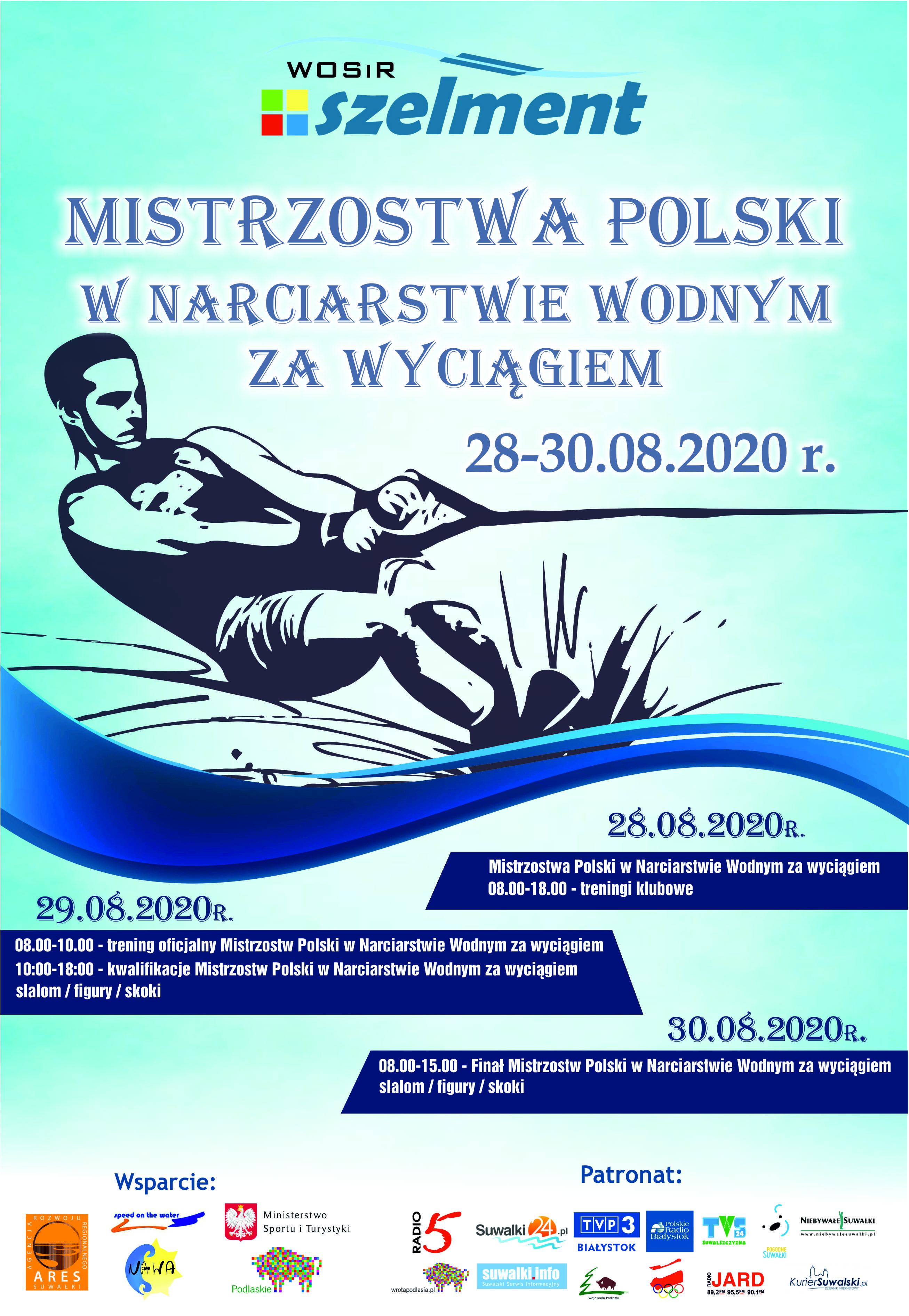 MISTRZOSTWA POLSKI W NARCIARSTWIE WODNYM ZA WYCIĄGIEM 28-30.08.2020 r.
